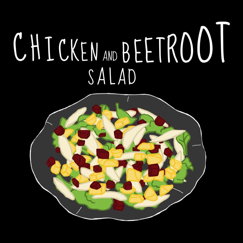 Salade Poulet Betterave