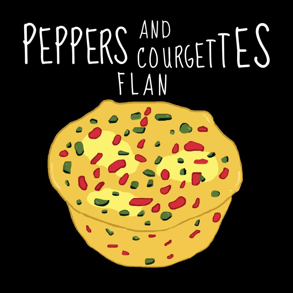 Flan Courgettes et Poivrons