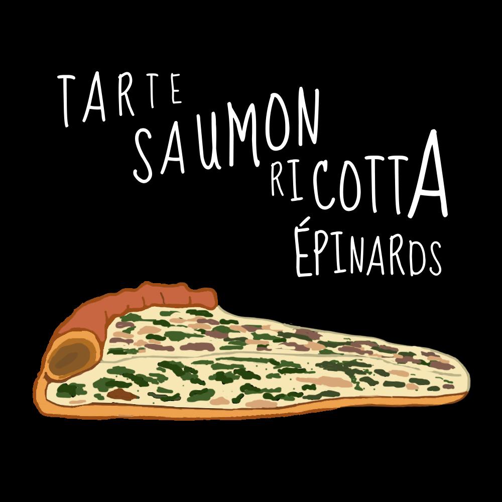 Tarte SaumonRicotta Epinards