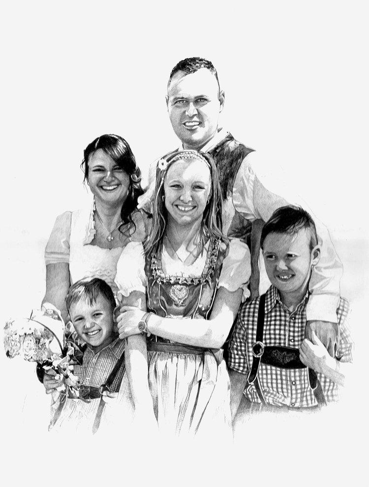 Margot, Huber e famiglia