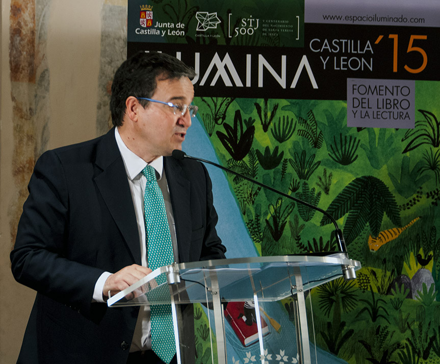 José Ramón Alonso, director general de Políticas Culturales de la Junta de Casilla y León, presentando la nueva edición