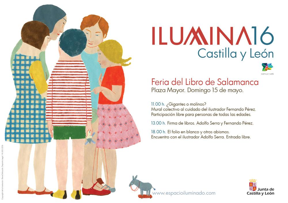 Cartel iluminado por Elena Odriozola.