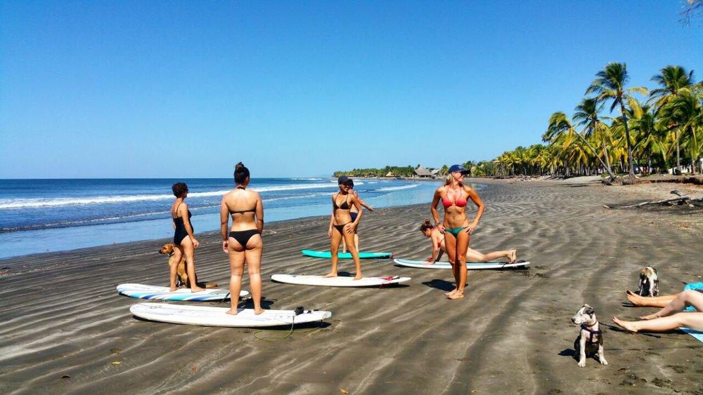 Nicaragua surf lesson