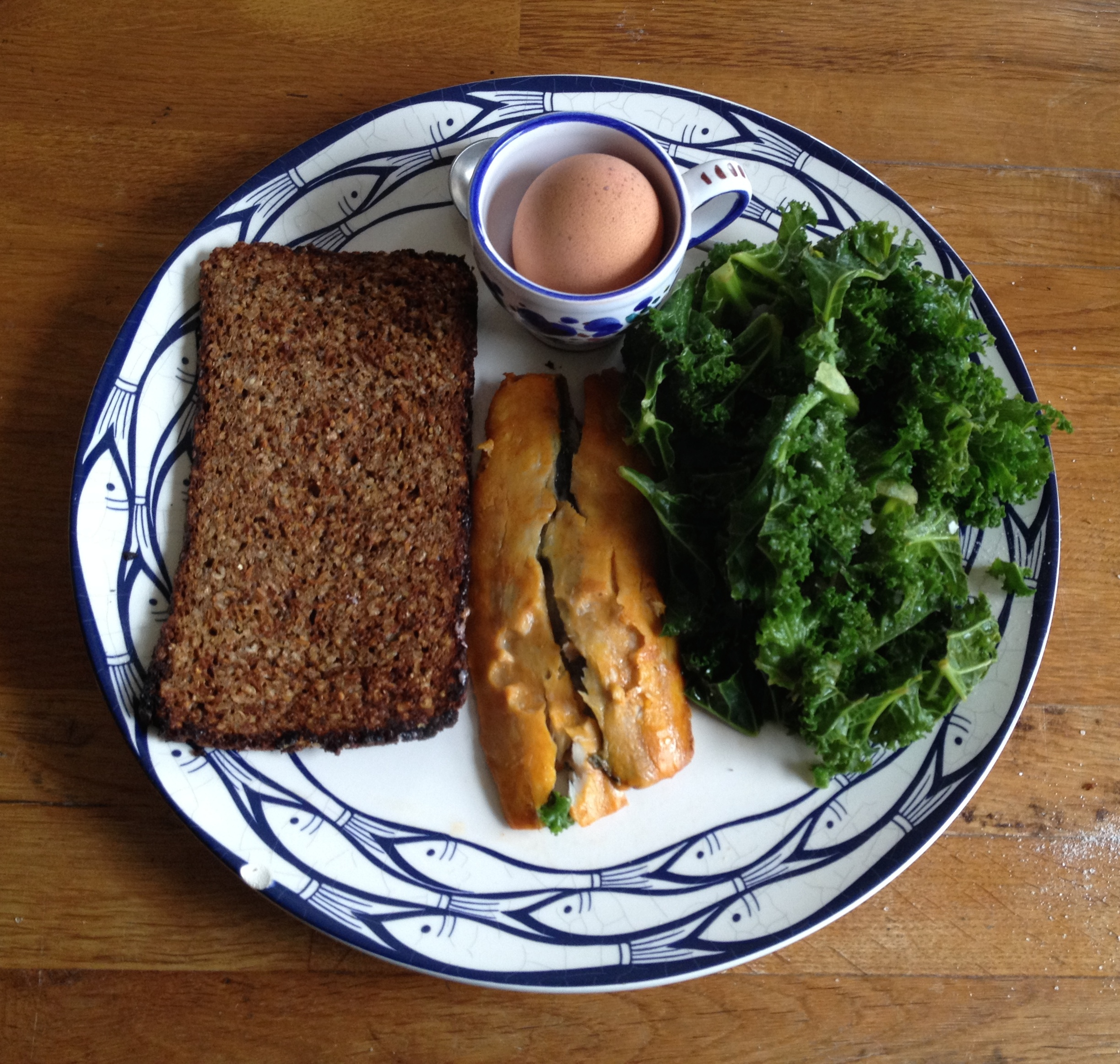 Egg kale & kippers