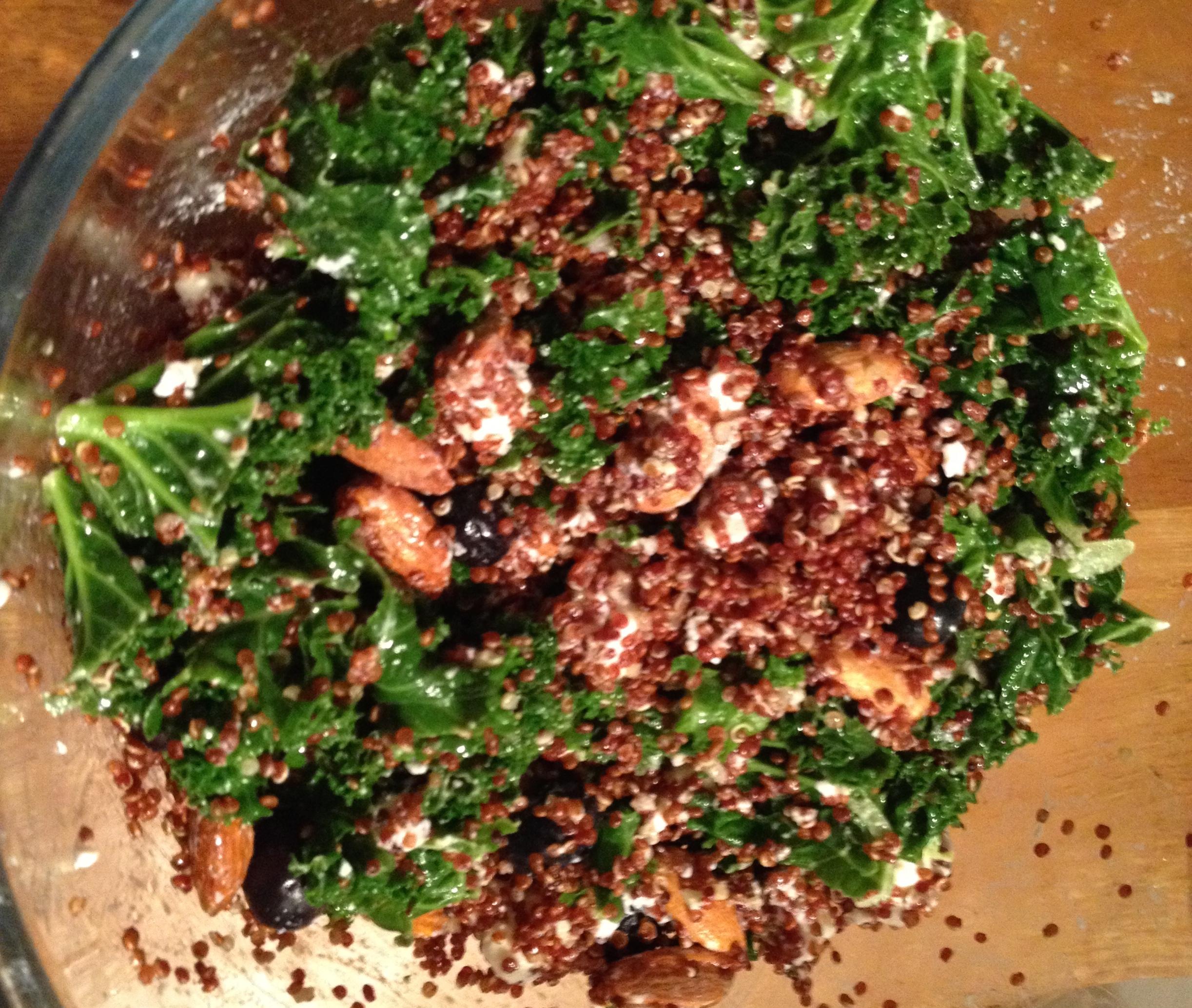 kale almond quinoa salad