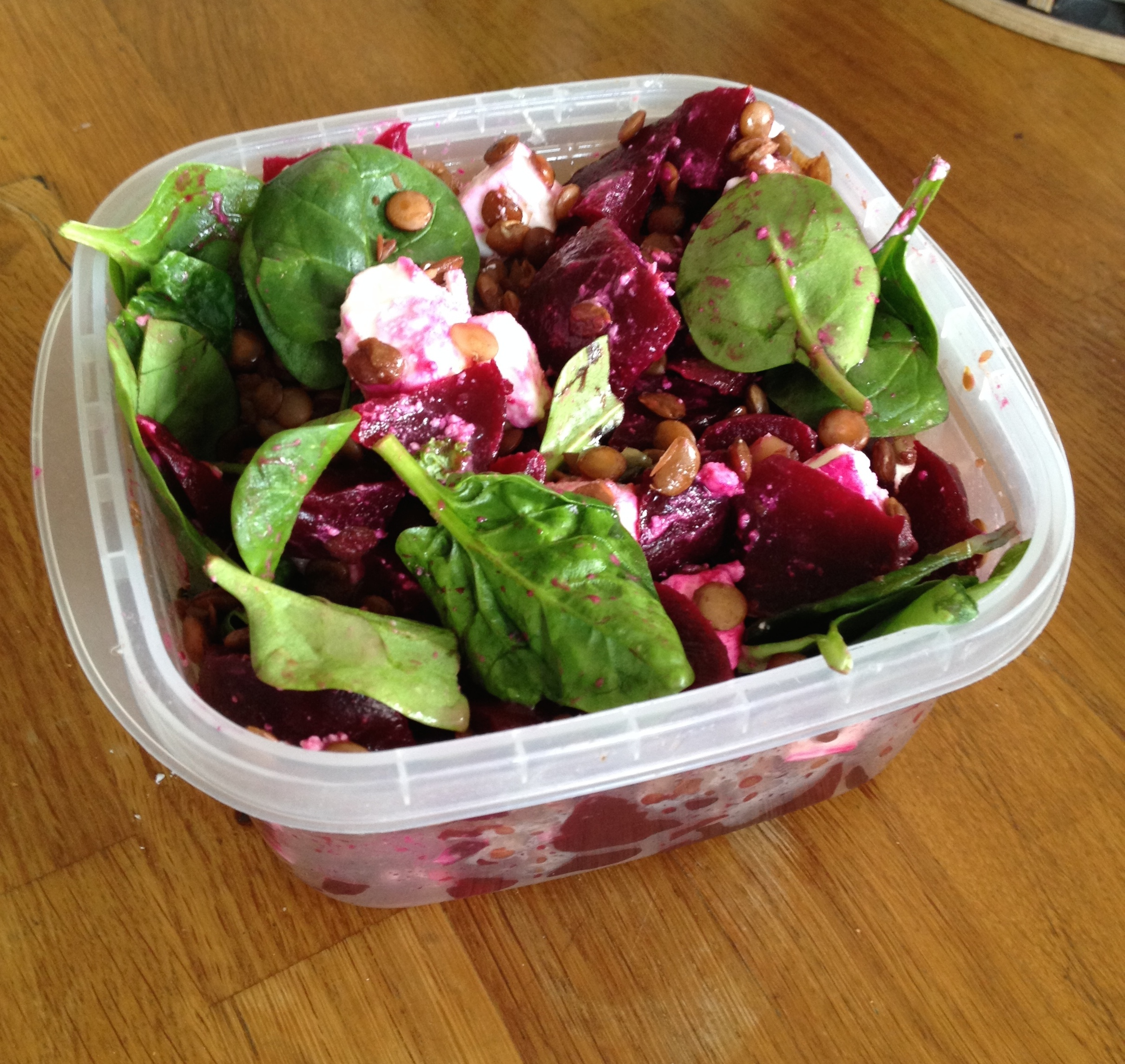 beetroot feta spinach salad