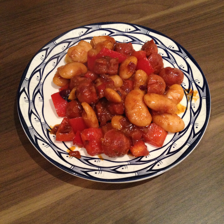 chorizo white beans FP