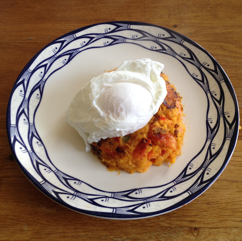 Salmon & sweet potato cakes