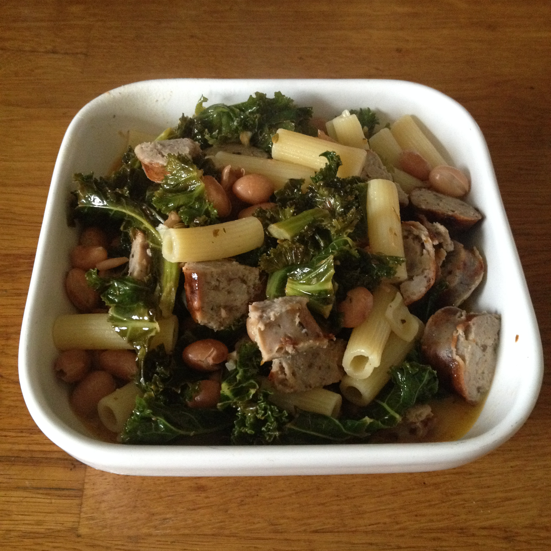 Sausage kale beans & pasta