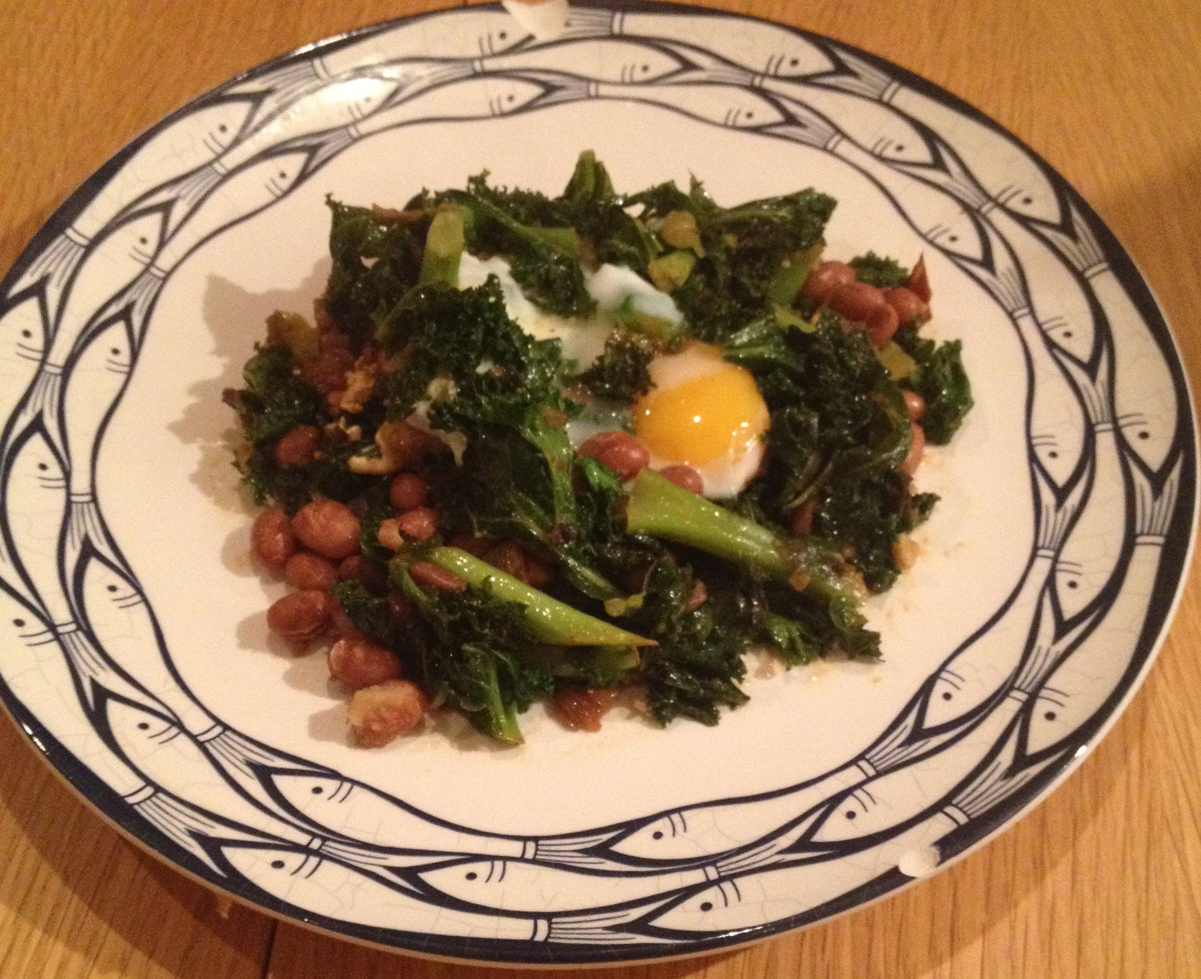 kale Eggs & beans