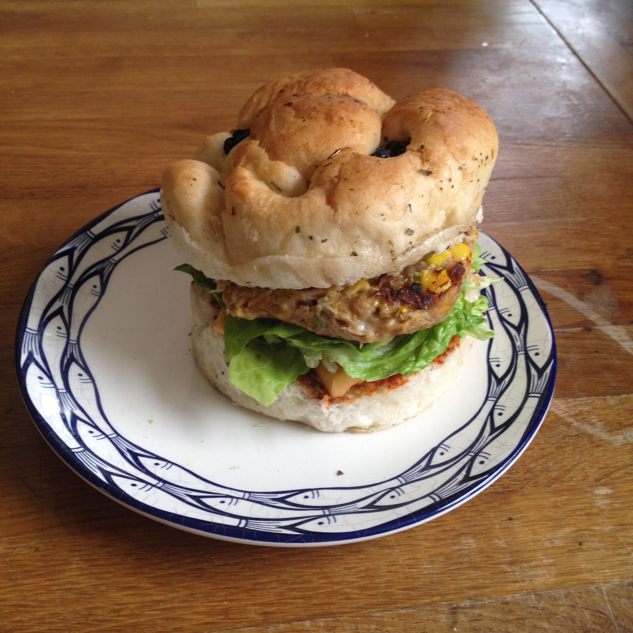 Tuna Sweetcorn Burger