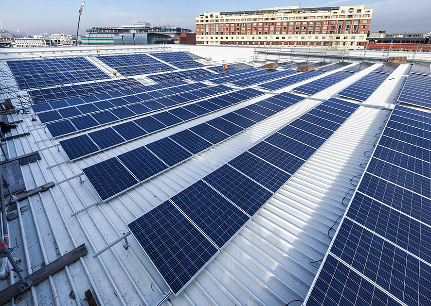 Our solar installation in the heart of Darling Harbour on the new International Convention Centre Sydney (ICC Sydney)