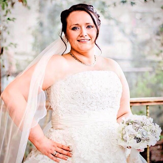 The stunning Bride Gemma x