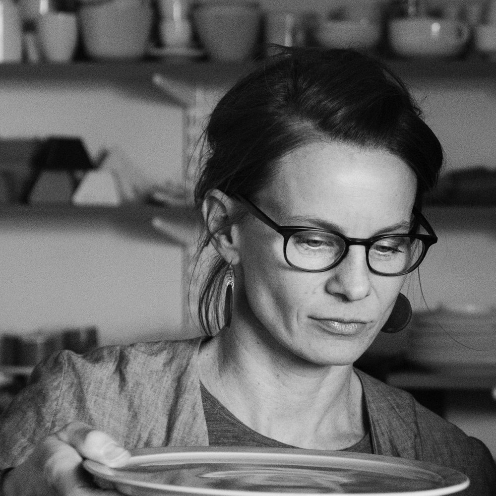 Tonje Sandberg  is the head of sales, marketing and administration, and runs the day-to-day planning in the microfactory. She has become quite an expert on jiggering plates - a surprising step to the side from her master in industrial design!