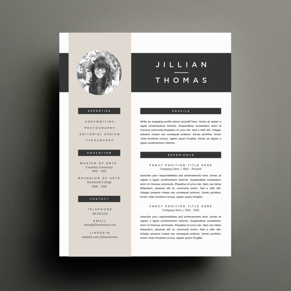 get refined and get noticed with this four page template design including handcrafted two page resume cover letter and references because your life - Resumes That Get Noticed