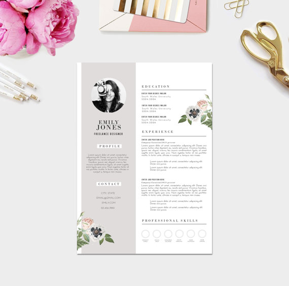 11 dazzling creative resume templates feminine resume photographer photography resume template