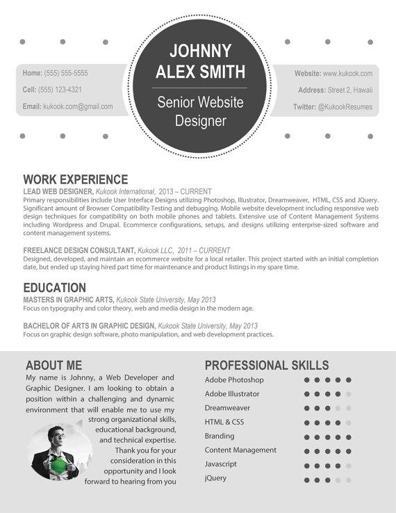 Custom professional resume template