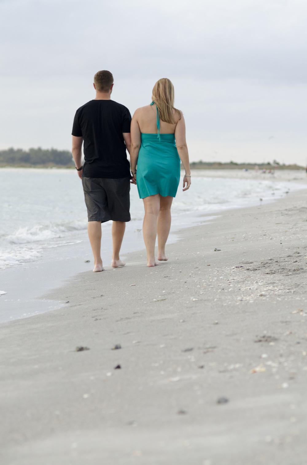 Beach Engagement Photo Poses - Tampa Wedding Photographers