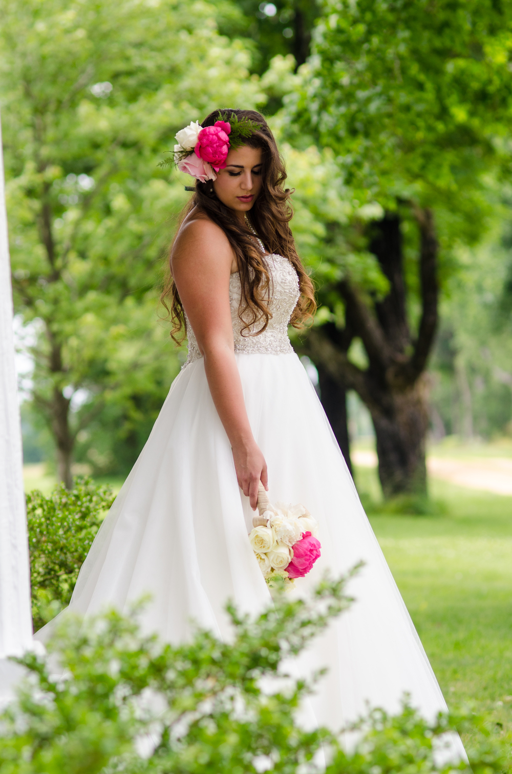 best fairbanks wedding photographer - bridal flower crown
