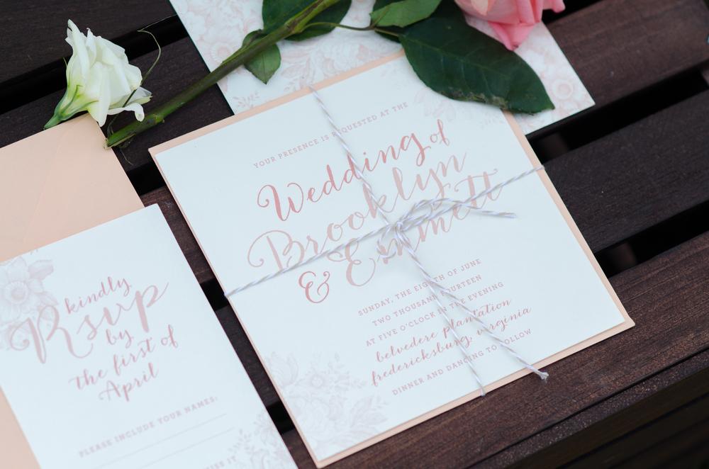 pretty rustic wedding invitations - farm wedding - alaska photographer