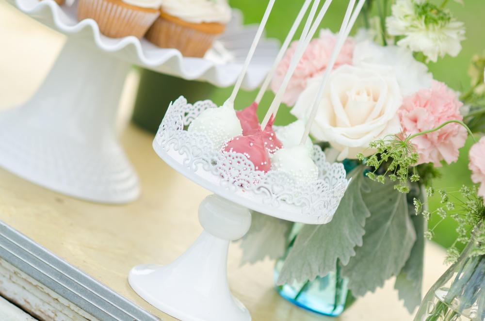 cake pops wedding dessert table - farm
