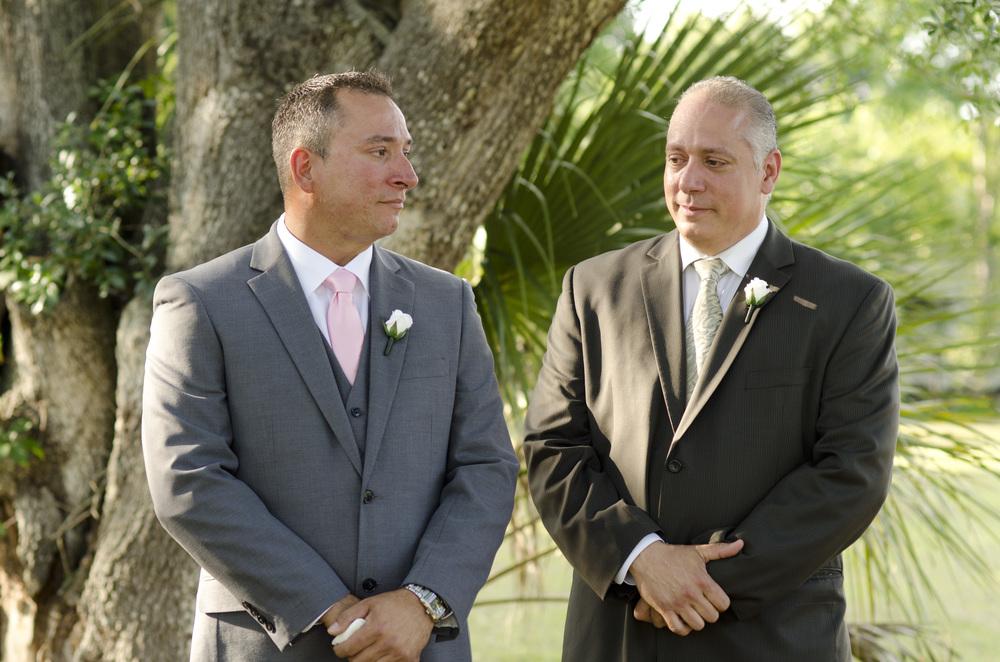 groom waiting for bride - fairbanks wedding photographer