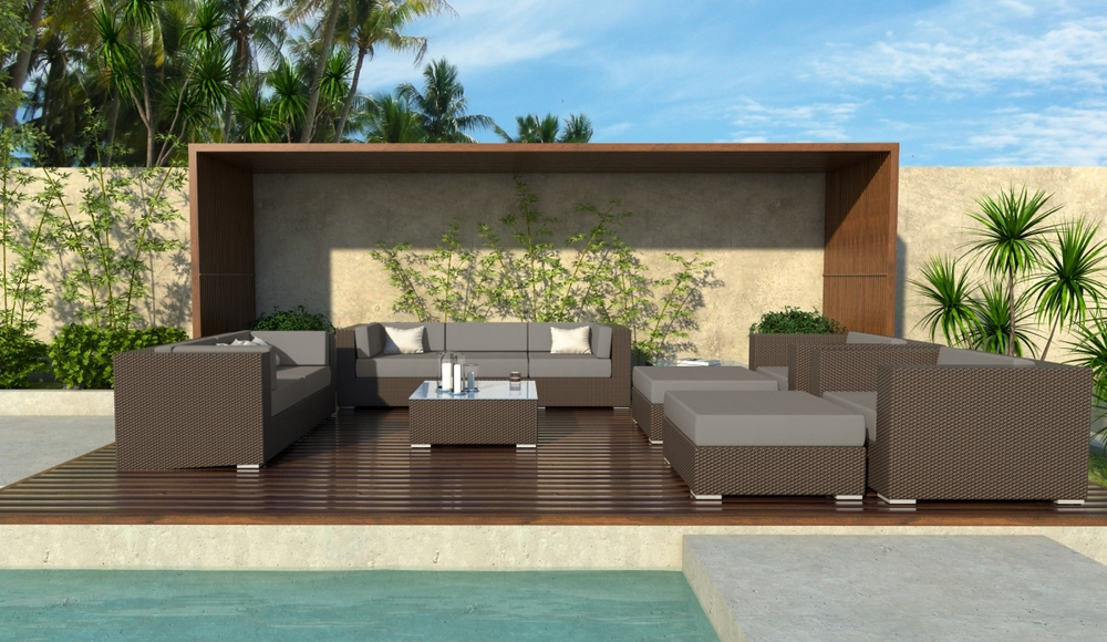 Madison 11 Piece Wicker Outdoor Sofa Sectional Set