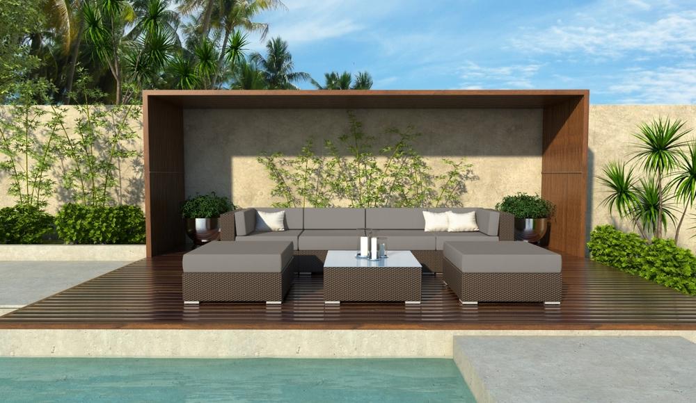 Fullerton 7 Piece Wicker Outdoor Sofa Sectional Set