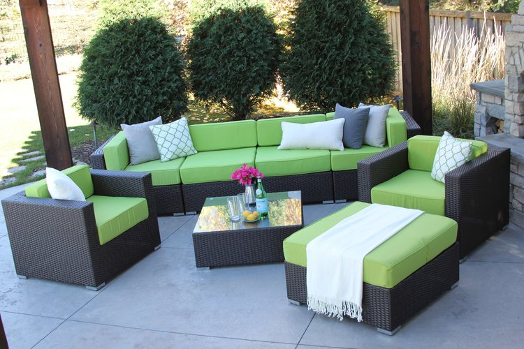 Lincoln 8 Piece Wicker Patio Sofa Sectional