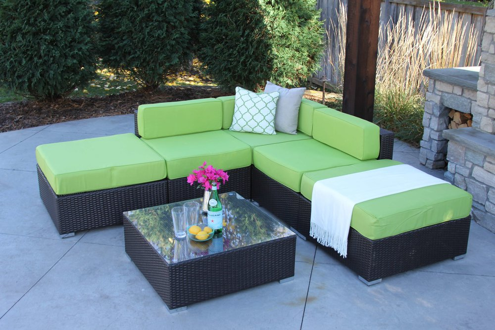 Ashland 6 Piece Wicker Patio Sofa Sectional