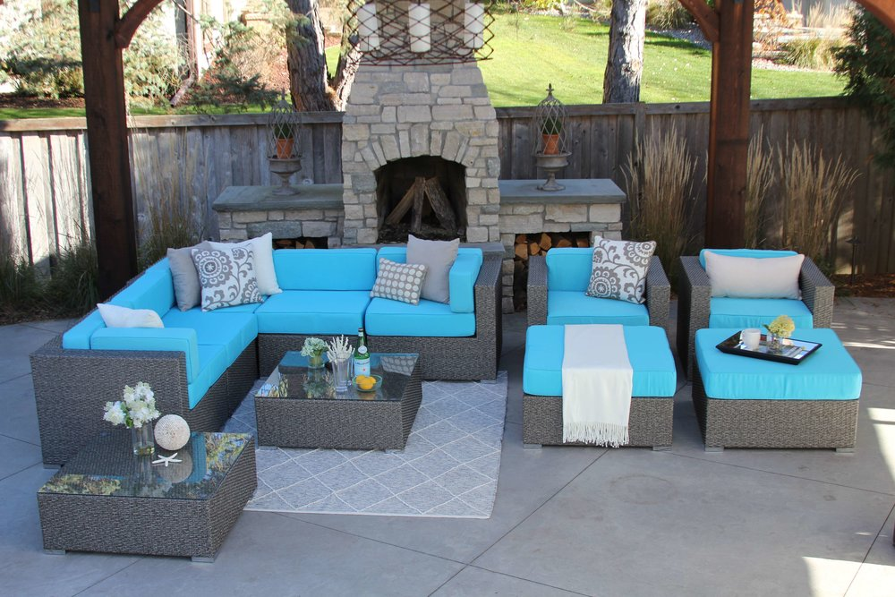 Victor 11 Piece Wicker Patio Sofa Sectional