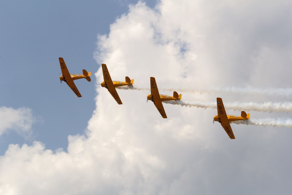 Canadian Harvard Aircraft Association Formation Team