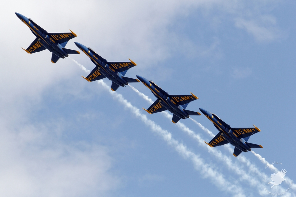 The US Navy Blue Angels
