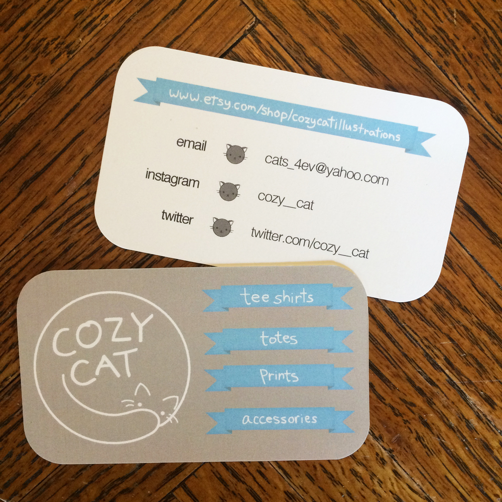 Cozy cat illustrations amanda gravely cozy cat illustrations business card created in 2013 using adobe illustrator reheart Image collections