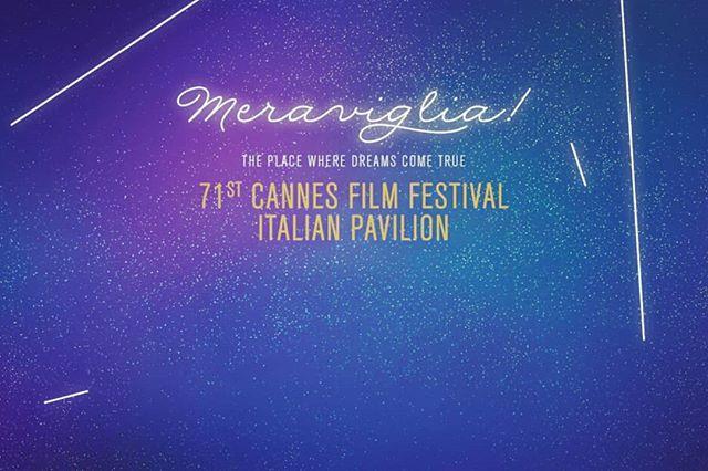Una Meraviglia di Italian Pavilion. #cannes2018 #italiancinema #cinecittà #allestimento @whoisnone