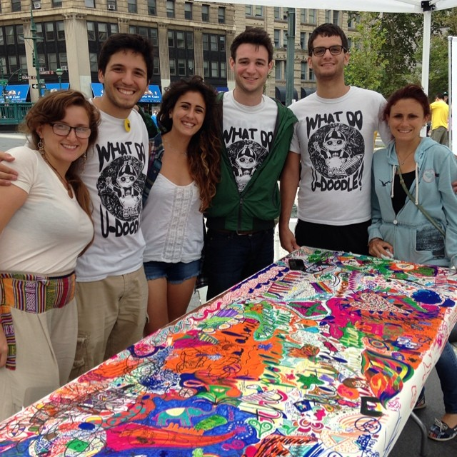 Hangin with the #udoodle #streetteam at #nyc #summerstreets #color #publicart #community