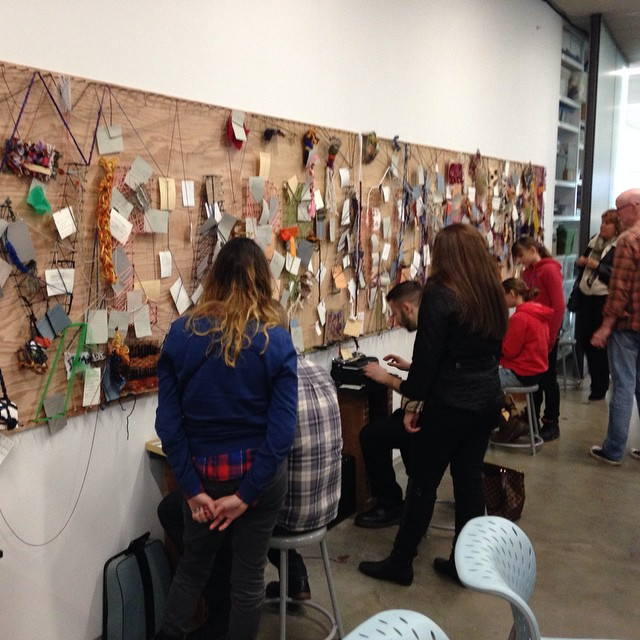 Collaborative poetry and thread mural at the institute of contemporary art in Boston! #missing #udoodle in #Boston