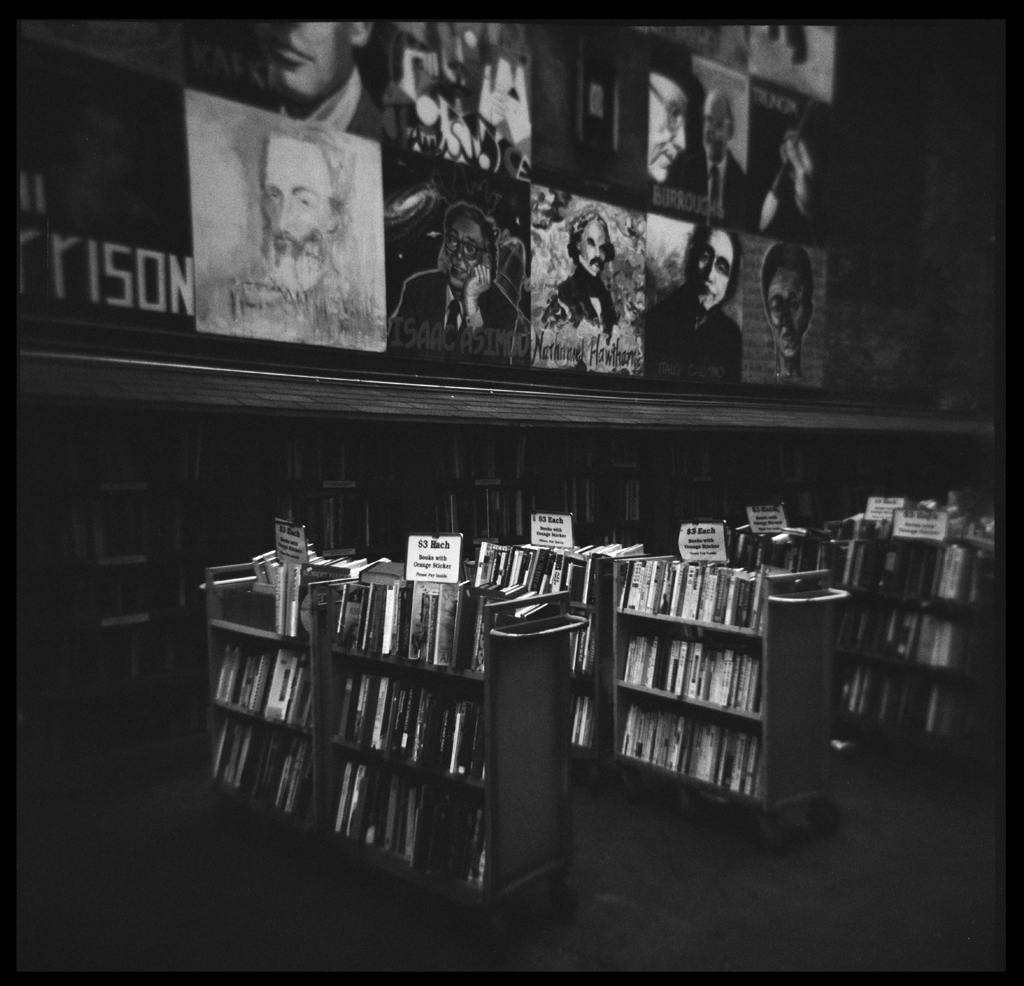 Brattle Books , HP5 Plus, Holga     Nicholas Schietromo