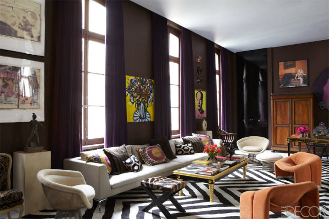 HOUSE TOUR: SOMBER COLORS GO WILD AND CHIC IN A PARIS APARTMENT