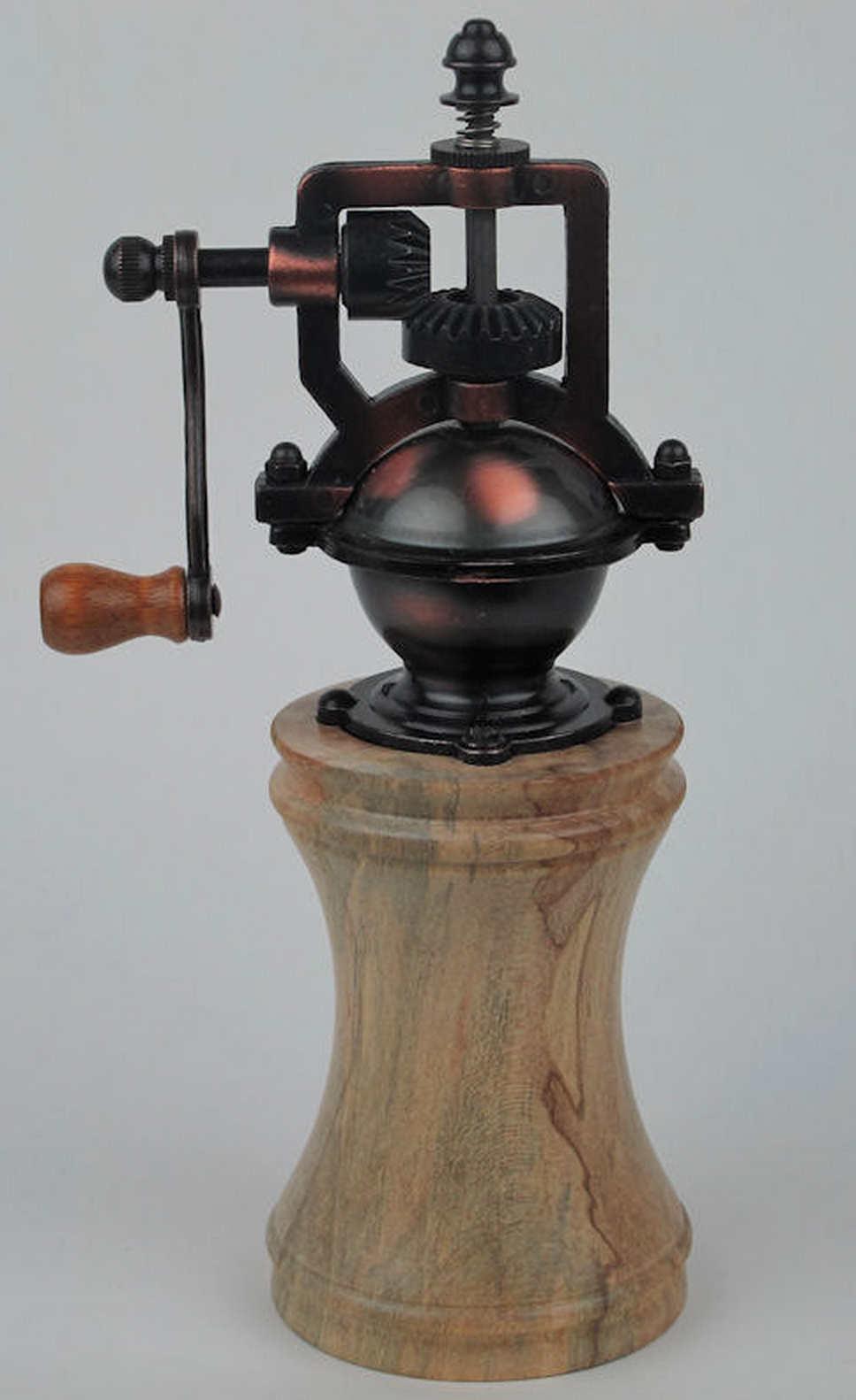 Hand-Turned Antique Style Pepper Mill by Jons Woodworks