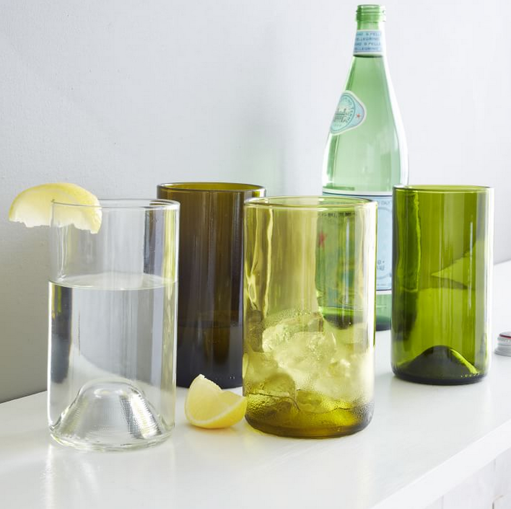 West Elm Recycled Wine Punt Glassware