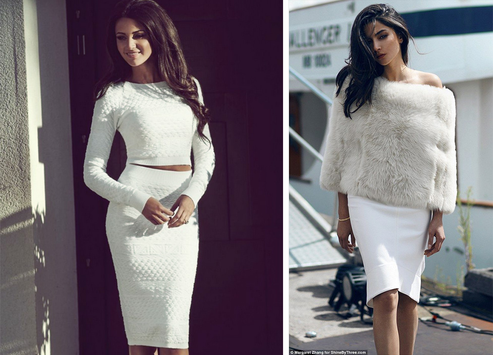 Image on left: Michelle Keegan on Lipsy London Image on right: Black & White Fashion Project