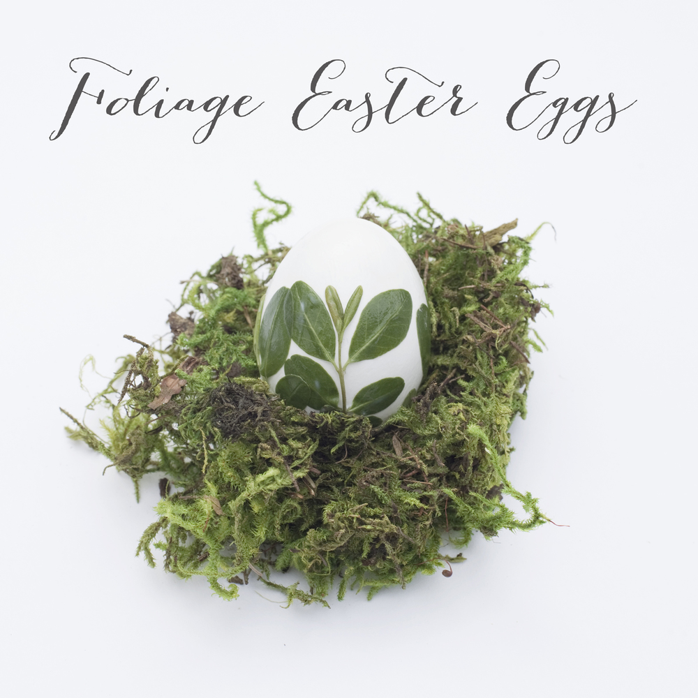 Foliage Easter Eggs