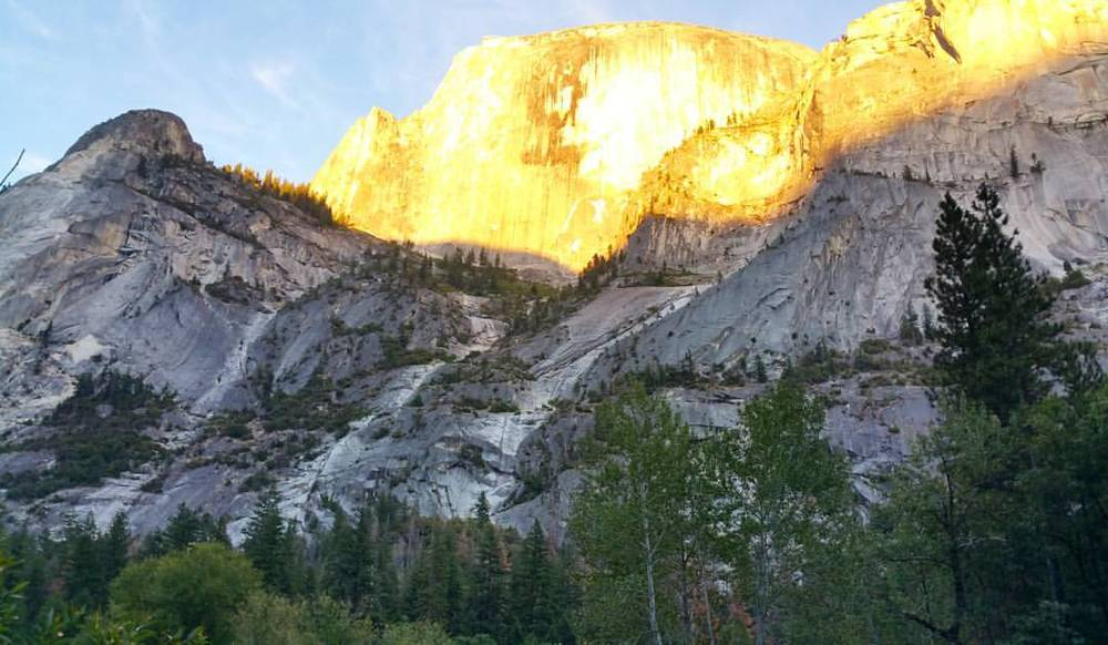 We finished our day after Hiking to Mirror Lake to see the sunset over Half Dome.