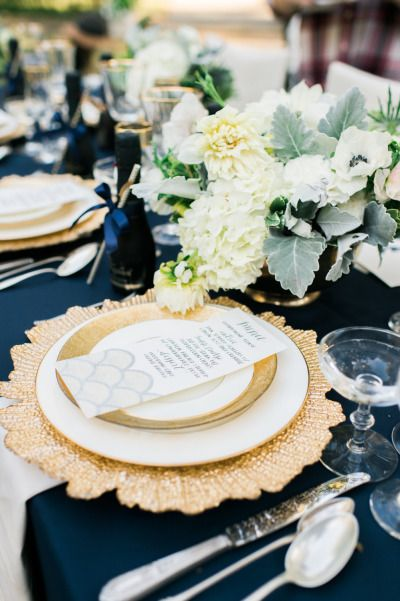 Actual crazy beautiful place setting from a Style Me Pretty featured wedding