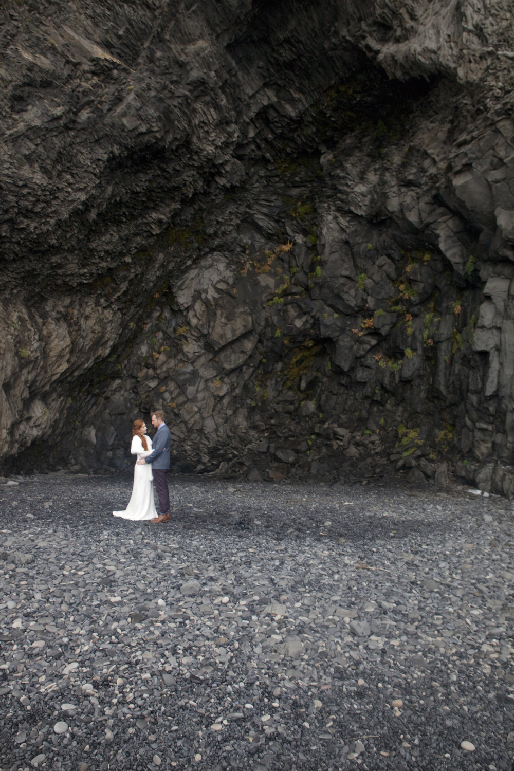 Caves at the Vik beach.
