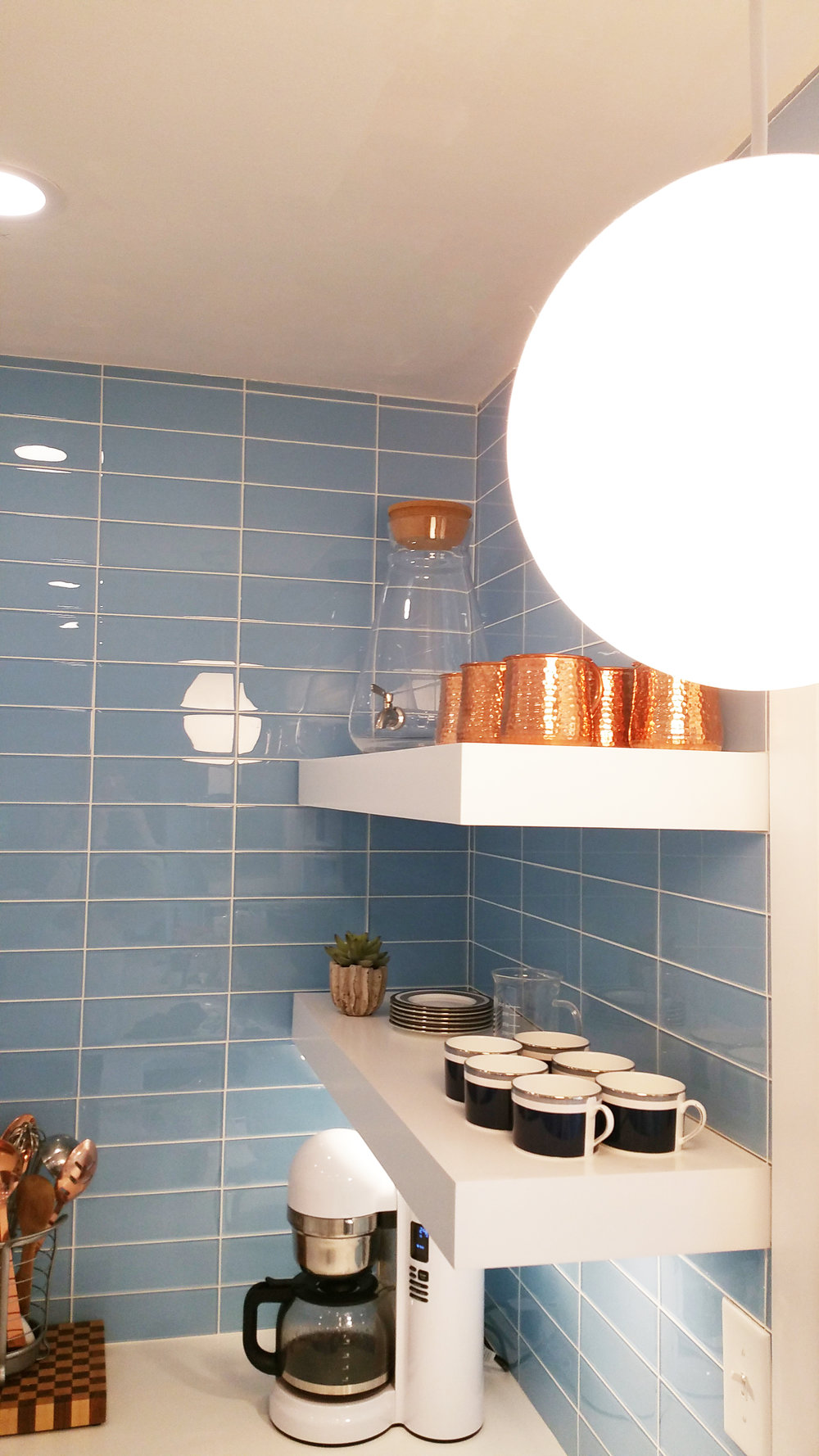 Pendant lighting over sink