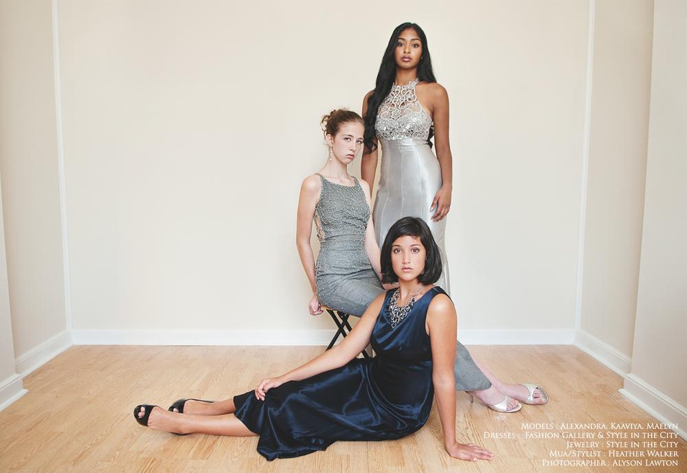 Fashion Portraits at Style in the City   Alexandra, Maelyn and Kaaviya   NC Triad Fashion Photographer   Winston Salem Photography   Photography by Alyson Lawton