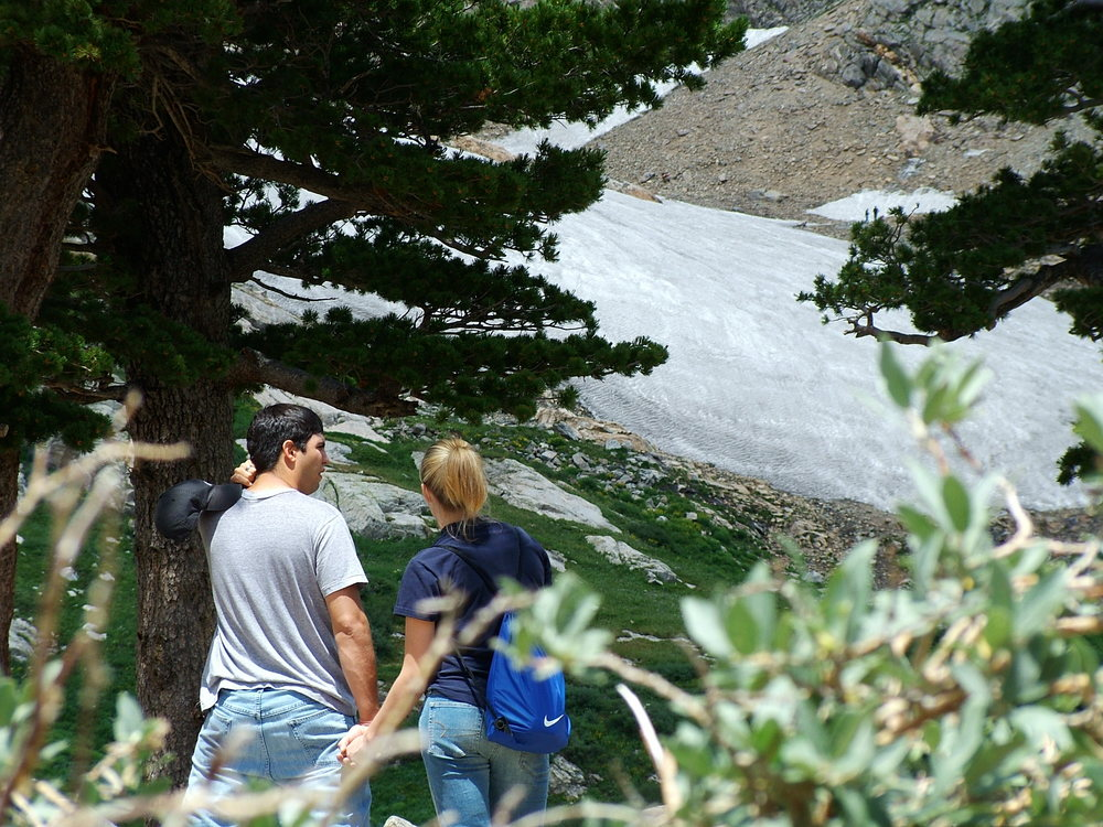 My sister and her husband, then fiancee, at Saint Mary's Glacier in Colorado.