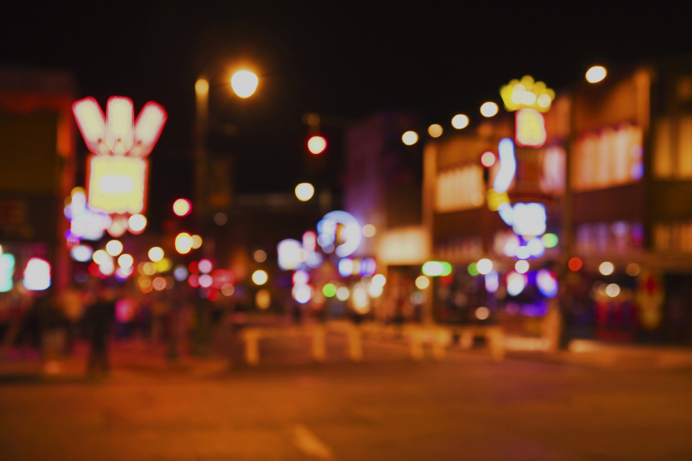 Blurry Beale Street, Memphis, TN